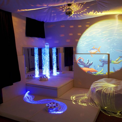 benefits of a multisensory room- sensory lighting