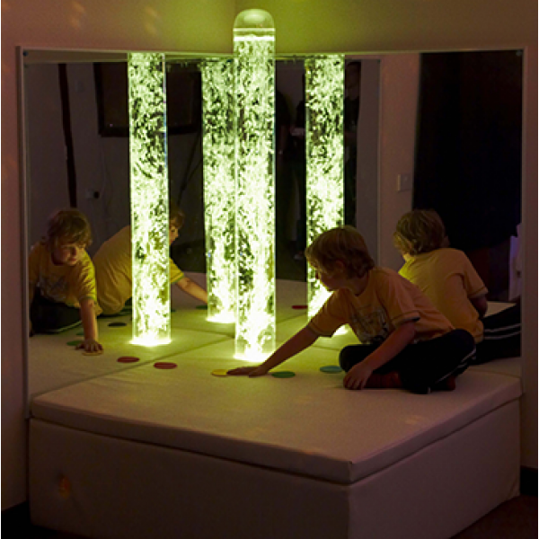 Bubble Tube and Boy - Superactive Sensory Room