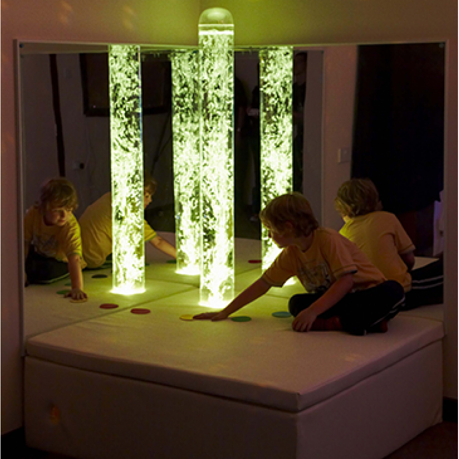 Interactive LED Bubble Tube Corner
