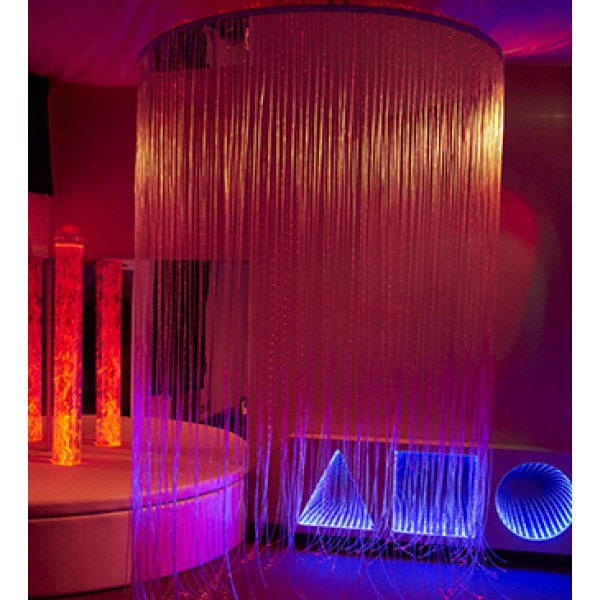 Circular LED Fiber Optic Shower - for Drywall Ceiling