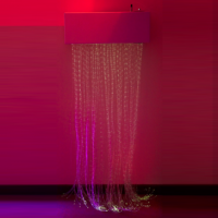 Calming LED Fiber Optic Wall Cascade